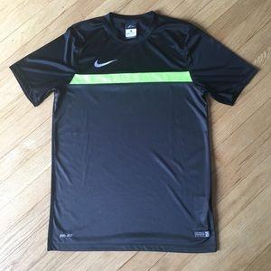 Nike dri-fit soccer/workout shirt.  Black size med